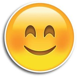 """Smiley Face Emoji Magnet 5"""" Round Decal Perfect for Car or T"""