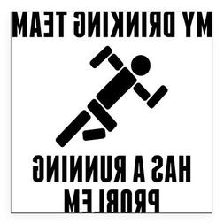 CafePress Square Car Magnet, Magnetic Bumper Sticker
