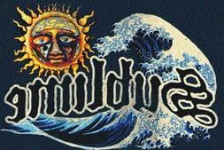 Sublime - 40 Ounces to Freedom Sun Logo with Wave & Text - M