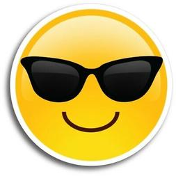 Sunglasses Emoji Magnet 5 inch Round Decal Great for Car Tru
