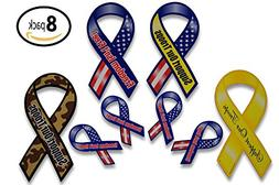 Support Our Troops Patriotic Military Car Magnets Set includ