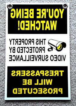 GVGs Shop 1Pc Supreme Popular You're Being Watched Yard Sign
