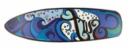 surf board beach magnet with wave design