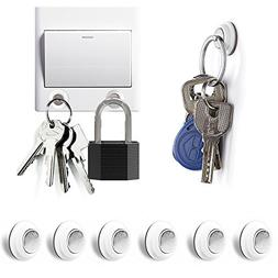 Tescat 6 Packs Magnetic Key Holder, Key Racks - Without Dril