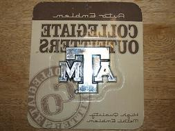 Texas A&M Aggies - Chrome Finished - Self Adhesive Metal Aut