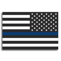 Thin Blue Line American Flag Magnet Decal - Heavy Duty for C