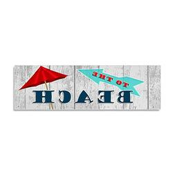 CafePress - to The Beach - Car Magnet 10 x 3, Magnetic Bumpe