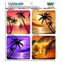 Graphics and More Tropical Beach Island Hibiscus Palm Trees
