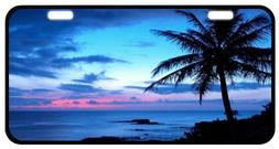 Tropical Paradise Ocean Beach Scene with Palm Trees Novelty