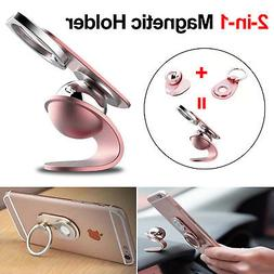 Universal Cell Phone Finger Grip Magnetic Car Holder Stand M