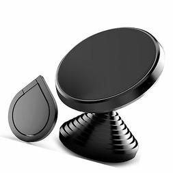 Universal Magnetic Car Mount with Cell Phone Ring Holder, IH