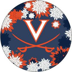 "VIRGINIA 4"" FLORAL DESIGN MAGNET-VIRGINIA CAVALIERS CAR MAGN"