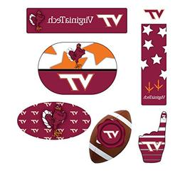 VIRGINIA TECH HOKIES MAGNET SET-VIRGINIA TECH HOKIES 6 PACK