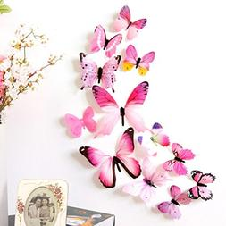 Clearance! Bowake Wall Decal 3d Butterfly Wall Sticker Decal