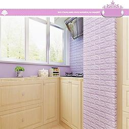 Huikeer Wall Stickers 3D Brick Art Design Self-Adhesive Foam