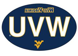 WEST VIRGINIA BLOCK LETTER OVAL MAGNET-WEST VIRGINIA CAR MAG