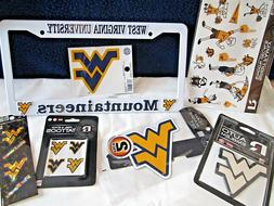 West Virginia Mountaineers Auto Car license Cover Emblems Ma