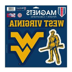West Virginia Mountaineers Large Magnet Set 3 Pack Car Truck