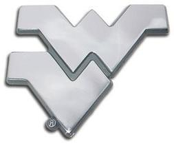 West Virginia Mountaineers Premier Chrome Metal Auto Emblem