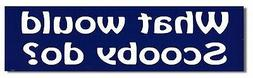WHAT WOULD SCOOBY DO? Funny Novelty Bumper Car Magnet/Decal