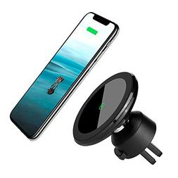 Wireless Car Charger Mount Magnetic Phone Holder, Qi 10W Fas