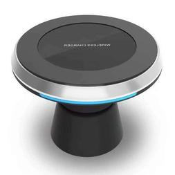Wireless car mobile charger, magnetic holder charging dock c