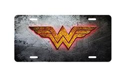 panda Wonder Woman Logo Aluminum Novelty License Plate licen